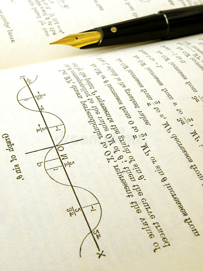 Download Maths text book open stock image. Image of curve, concept - 11456555