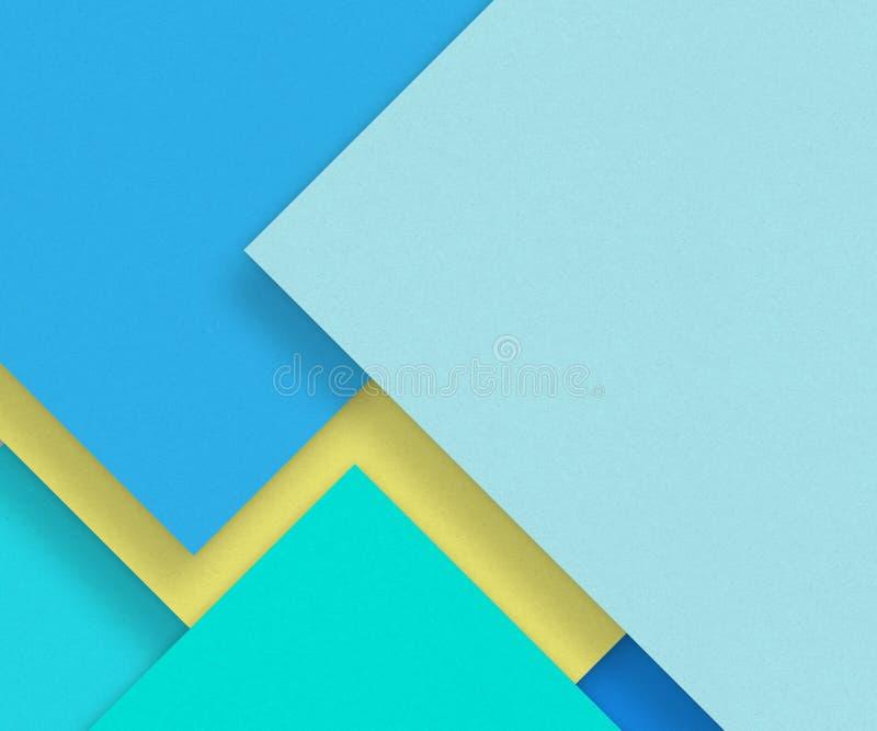 Matière de base bleue de papier blanc - concevez l'élément illustration libre de droits