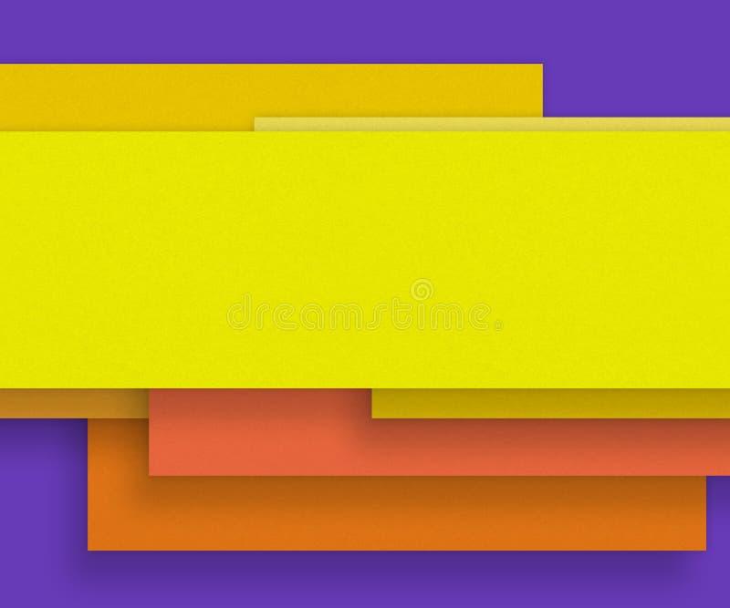 Matière de base jaune de papier blanc - concevez l'élément illustration libre de droits
