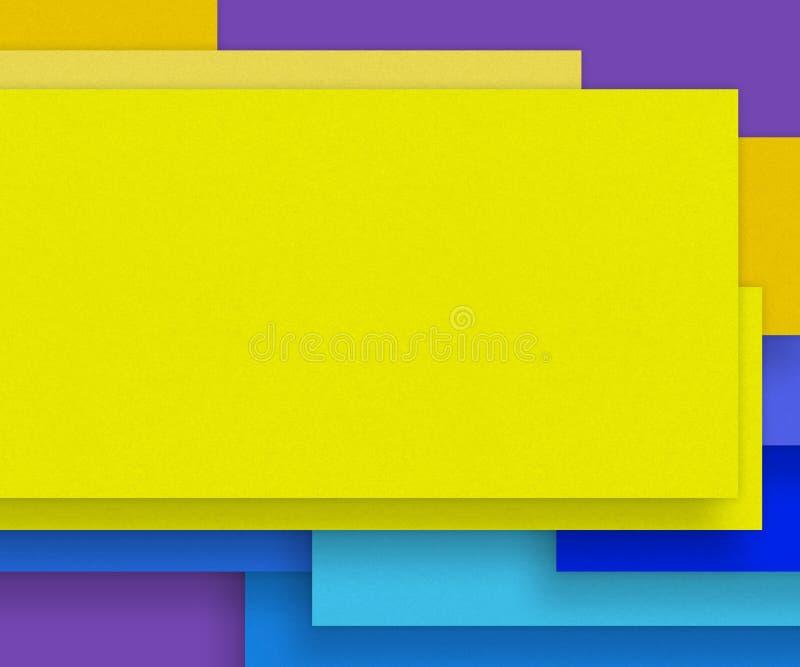 Matière de base jaune de papier blanc - concevez l'élément illustration de vecteur