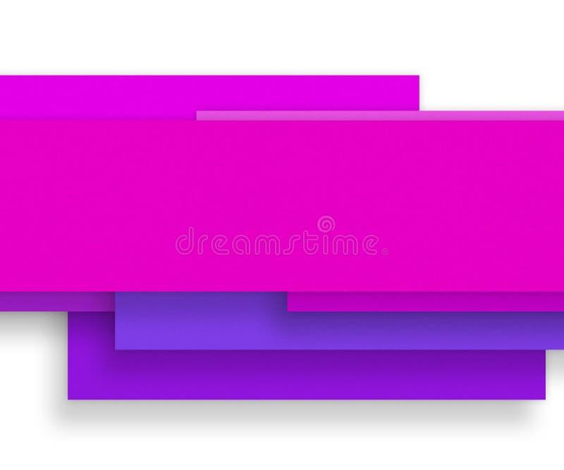 Matière de base rose de papier blanc - concevez l'élément illustration de vecteur