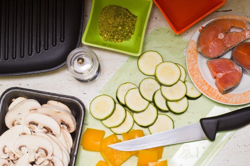 Matières premières pour la cuisson images stock