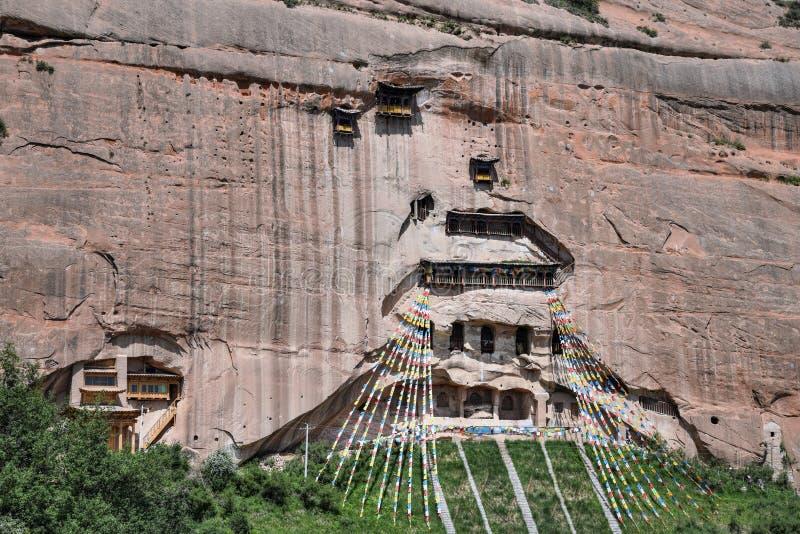 Mati Temple dans la province de Gansu en Chine images stock