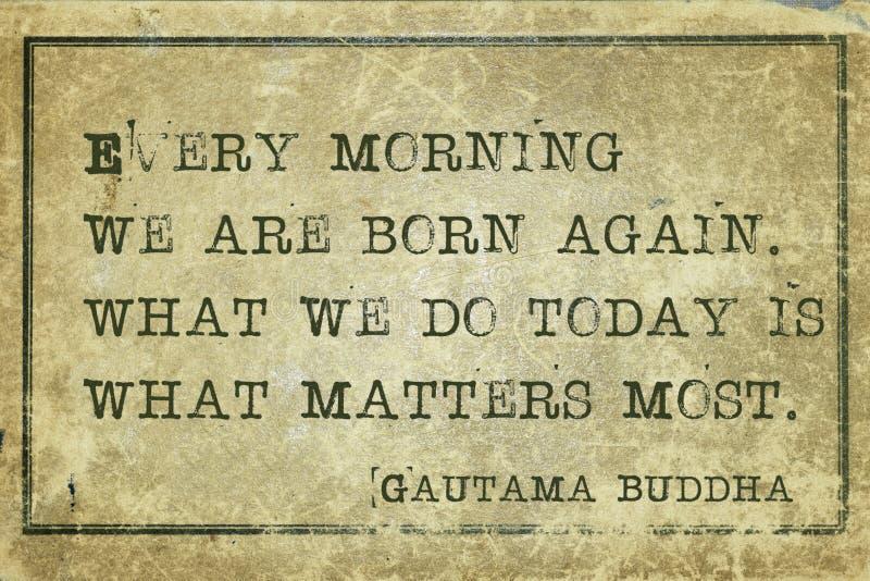 Matin Bouddha image libre de droits
