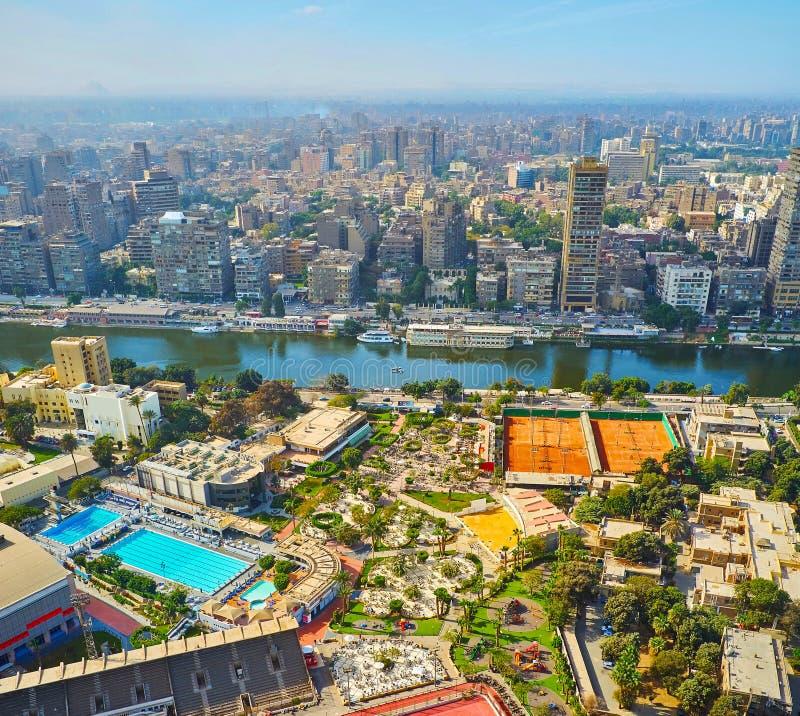 Matin brumeux au Caire, l'Egypte photographie stock libre de droits