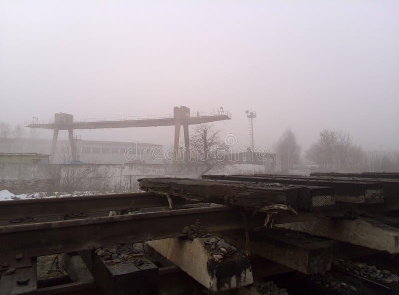 Matin brumeux, automne, pluie légère photo stock