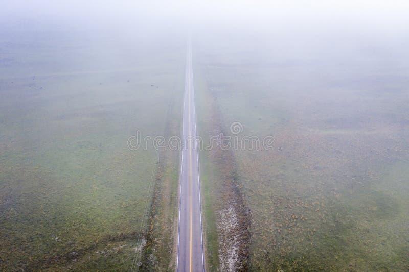 Matin brumeux de ressort au-dessus du N?braska Sandhills photos stock