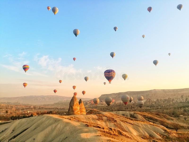 Matin dans Cappadocia image stock