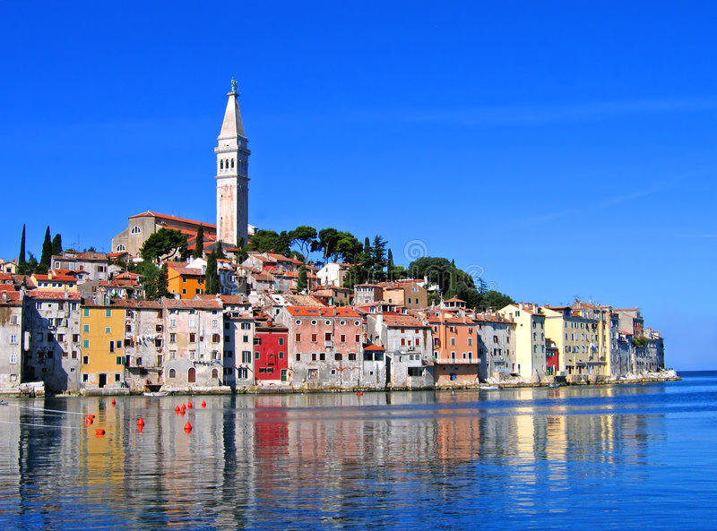 Matin dans Rovinj, Croatie photos stock