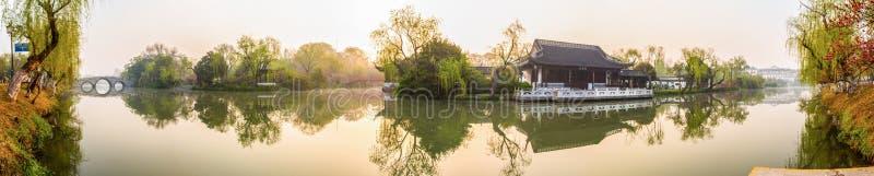 Matin de canal de Yangzhou photographie stock