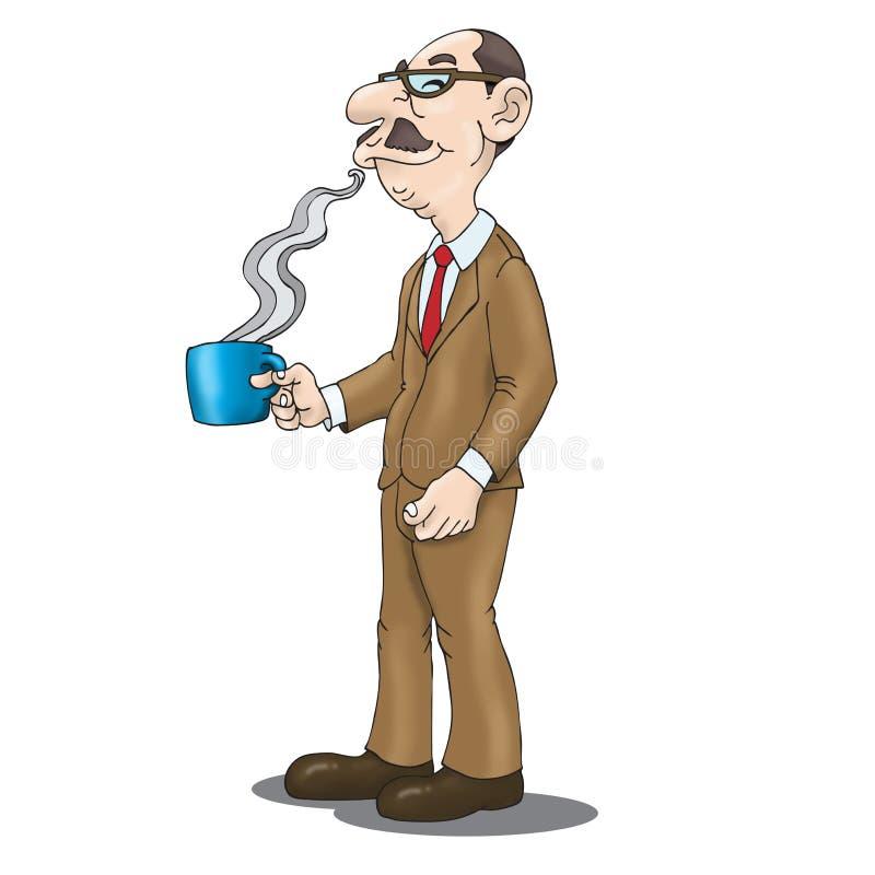 matin de coffe illustration de vecteur