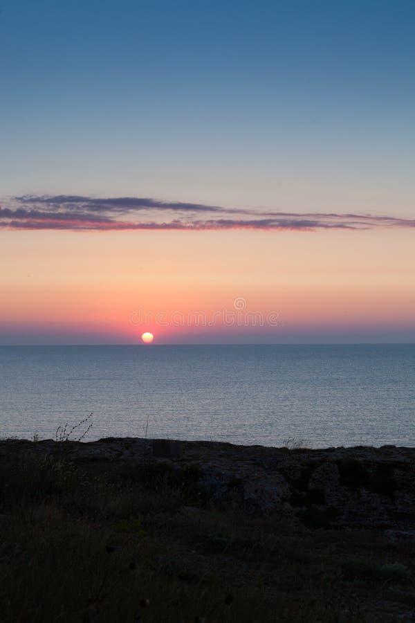 Matin de juillet de lever de soleil photographie stock