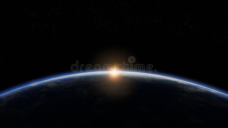 matin de l'orbite 3D illustration libre de droits
