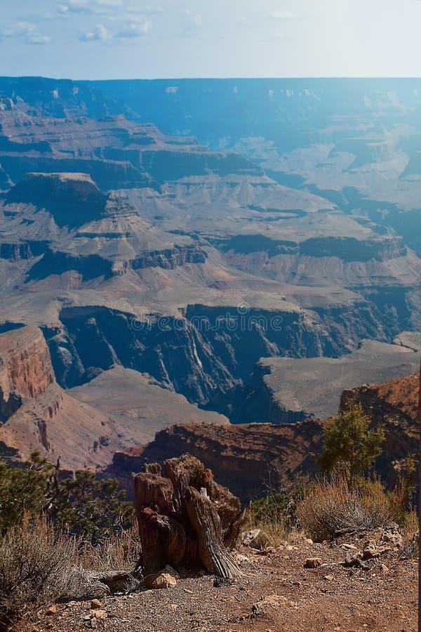 Matin de lever de soleil au parc national de Grand Canyon Beau paysage de brouillard image libre de droits