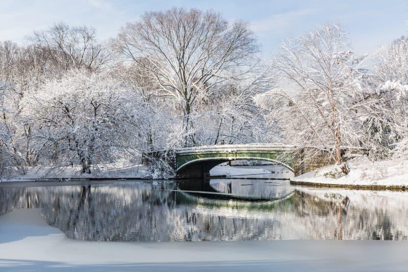 Matin de neige de ressort de pont de Lullwater photo libre de droits