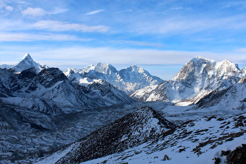 Matin en Himalaya images libres de droits