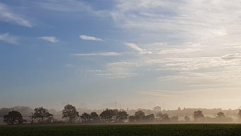 Matin flou au-dessus de Knapton, la Norfolk, R-U photos stock