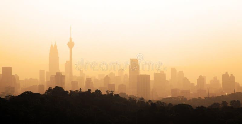 Matin flou de ville photographie stock