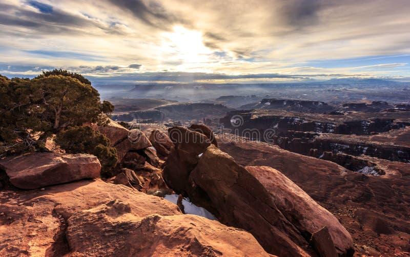 Matin grand de point de vue de Canyonlands images stock