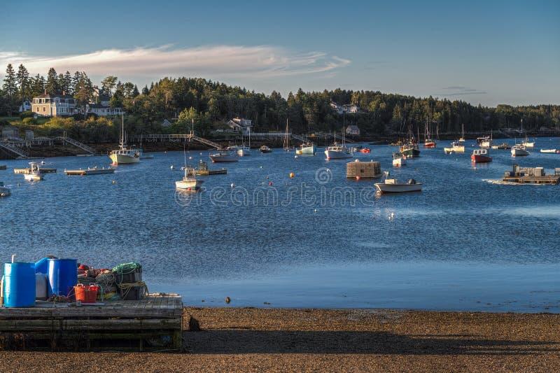 Matin Maine Harbor photo stock