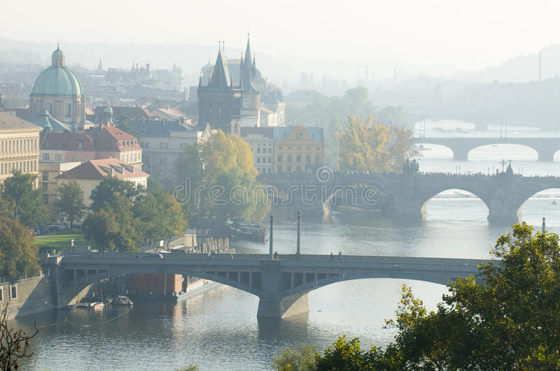 Matin Prague photo stock