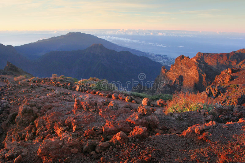 Matin sur la La Palma d'îles Canaries photos stock