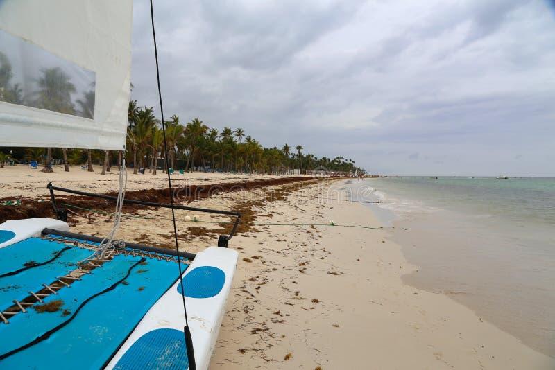 Matin sur la plage de la République Dominicaine de Bavaro photo libre de droits