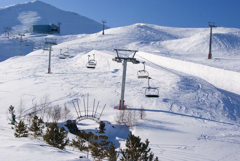 Matin sur la station de sports d'hiver turque photographie stock libre de droits