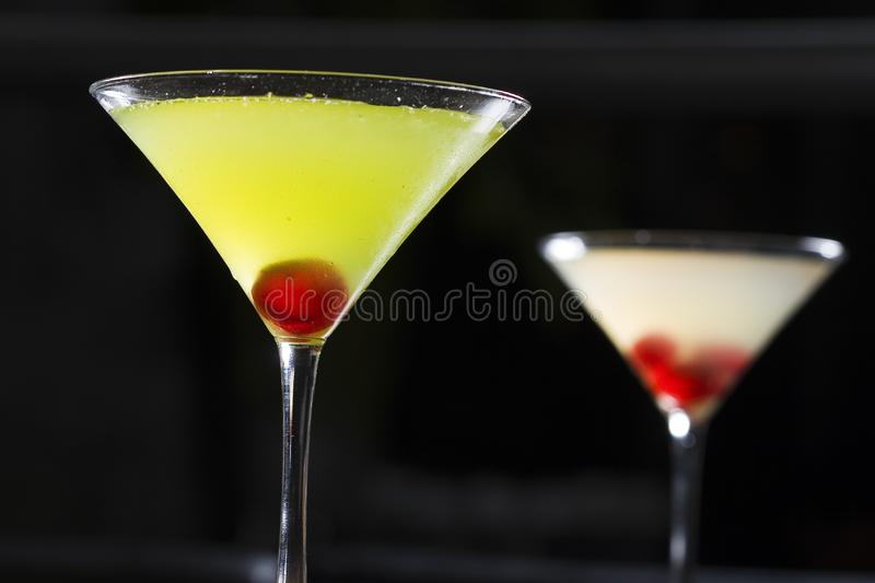 Matini cocktail glass royalty free stock photography
