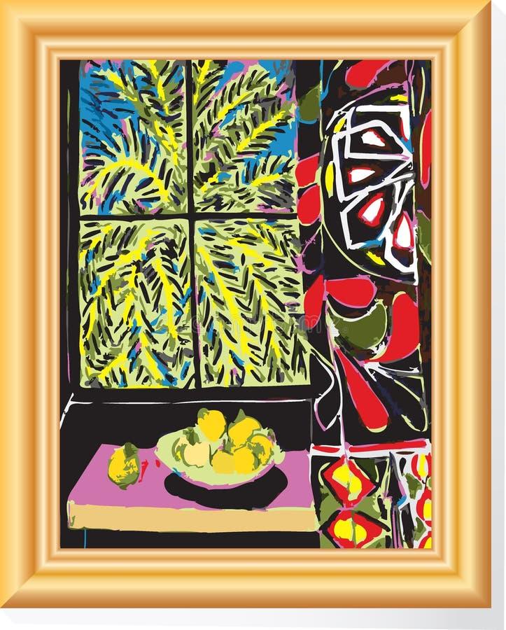 Matisse in frame stock illustratie
