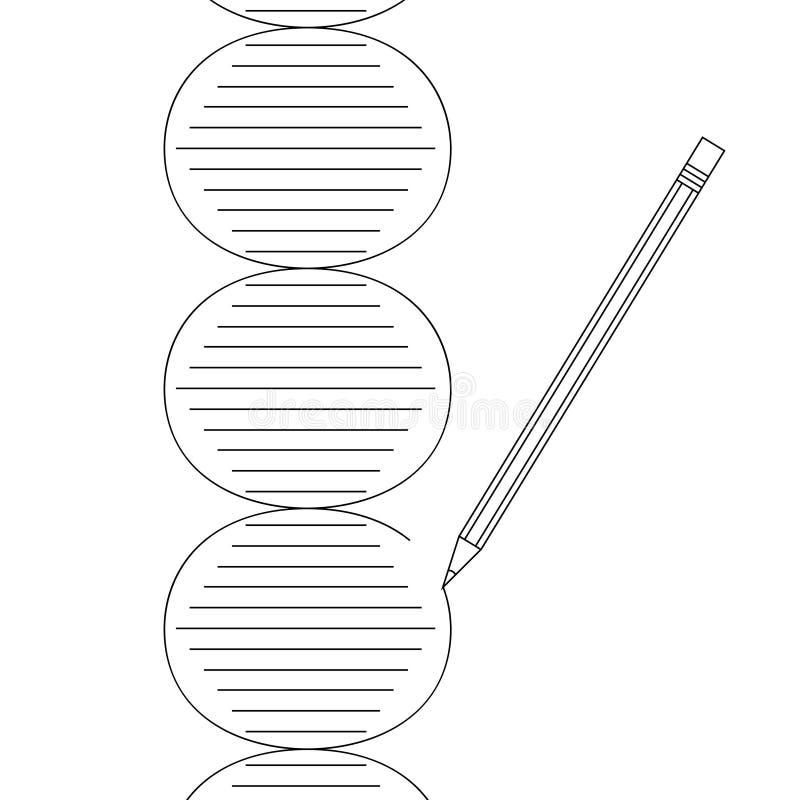 Matita del DNA di terapia genica illustrazione di stock