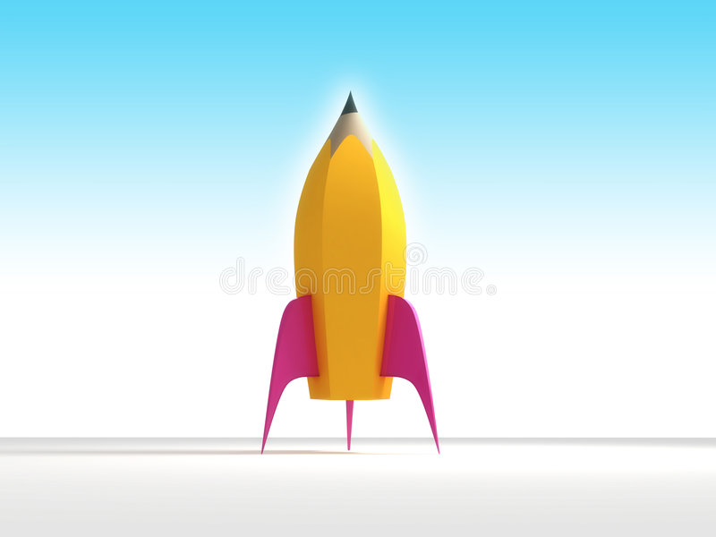 Matita del Rocket royalty illustrazione gratis