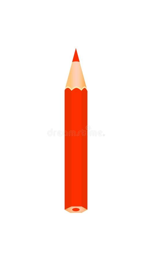 Matita di legno di colore rosso royalty illustrazione gratis