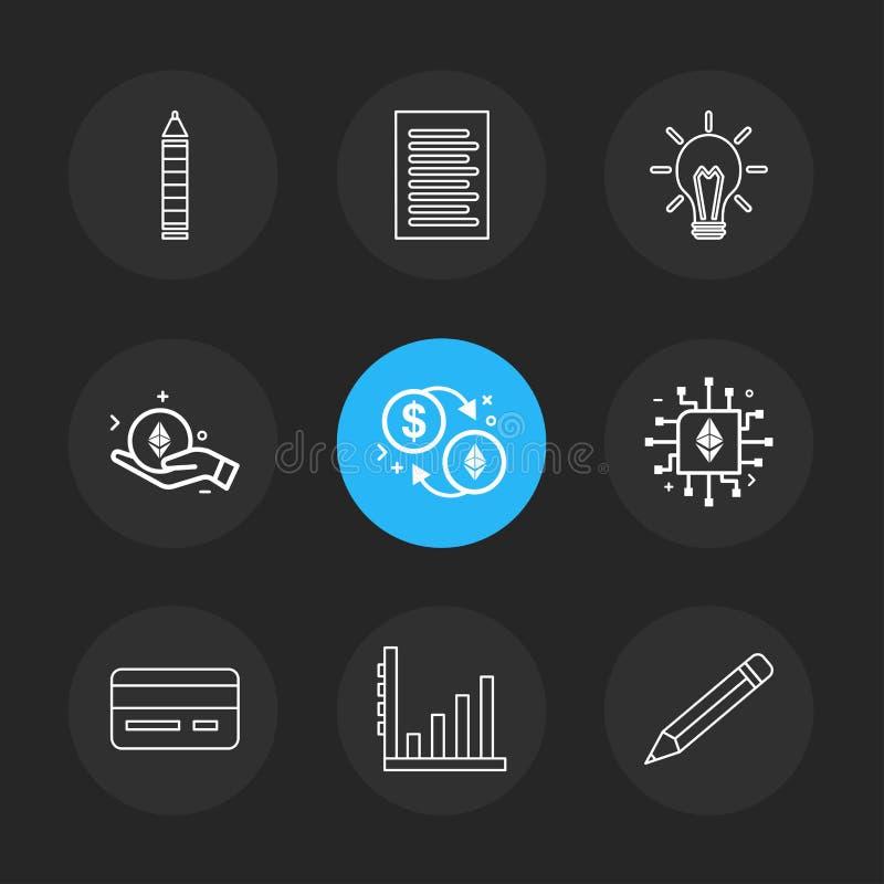 Matita, lampadina, idea, carta, documento, CI, chip, matita, g illustrazione di stock