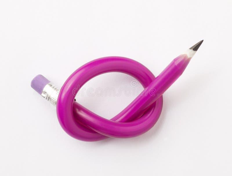 matita legata nel nodo immagini stock