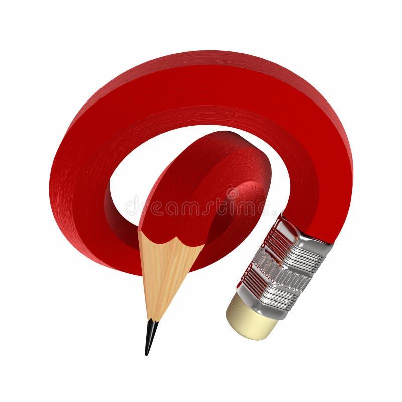 Matita rossa illustrazione vettoriale