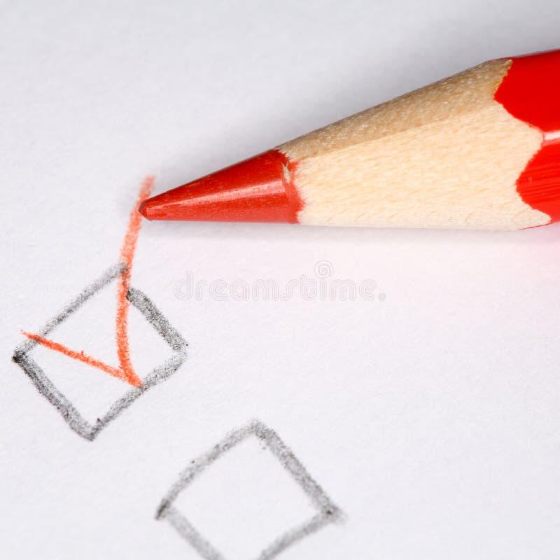 Download Matita rossa immagine stock. Immagine di oggetto, scriva - 7309021