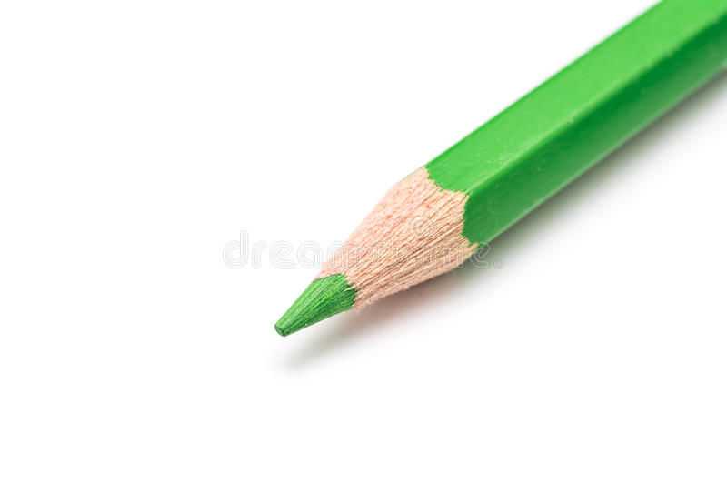 Matita verde di coloritura isolata fotografia stock libera da diritti