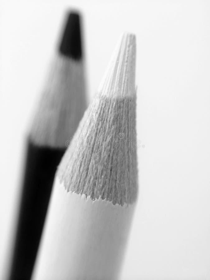 Matite in bianco e nero fotografie stock