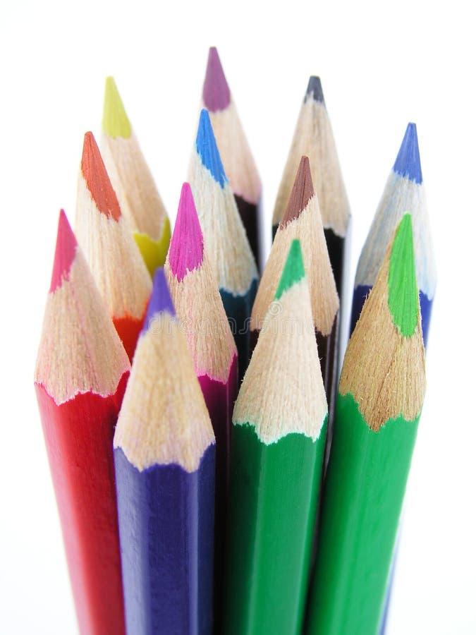 Matite colorate fotografie stock libere da diritti