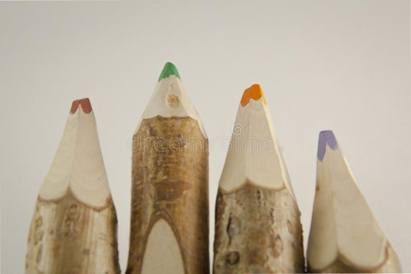Matite colorate insolite immagini stock