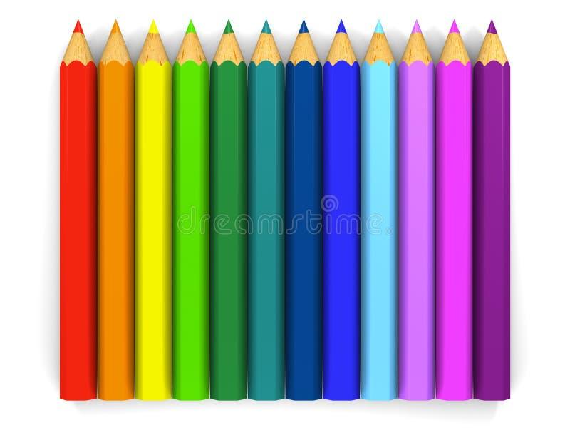Matite di colore illustrazione di stock