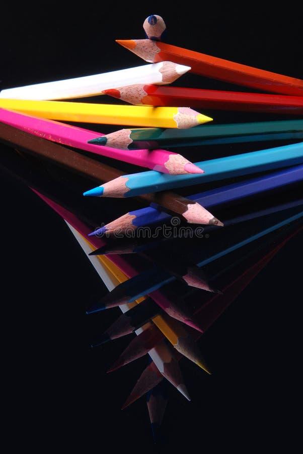 Matite di colore fotografia stock libera da diritti
