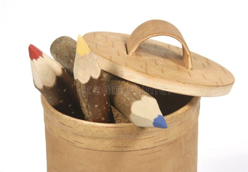 Matite di legno immagini stock