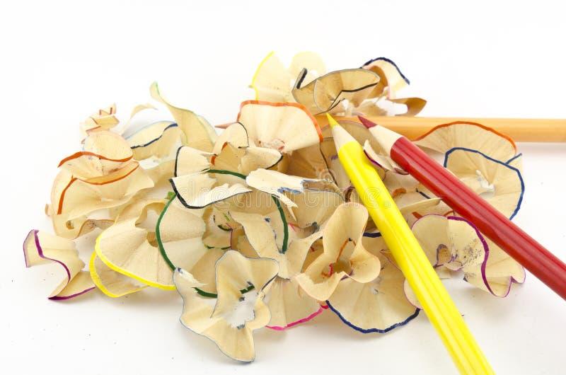Matite e rasatura delle matite fotografia stock