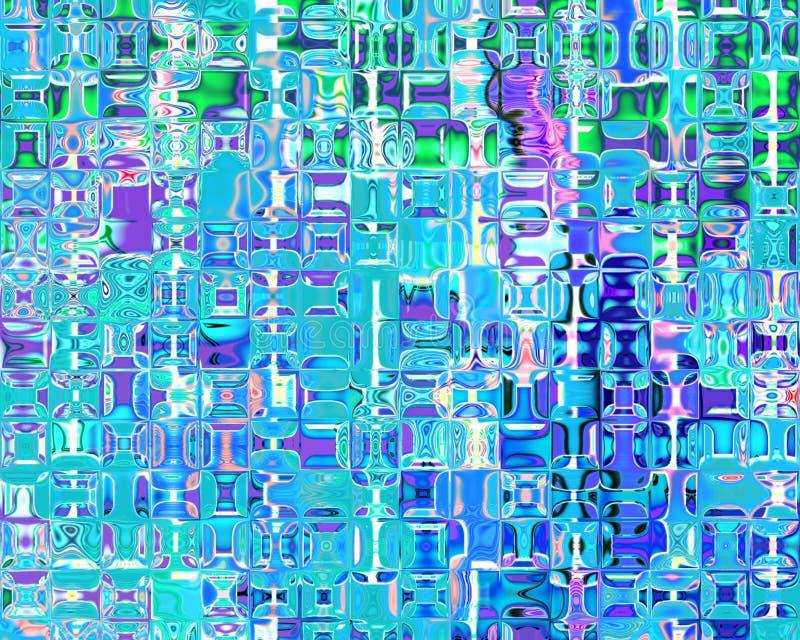 Matiz de cristal das reflexões da arte genética da luz - azul ilustração stock