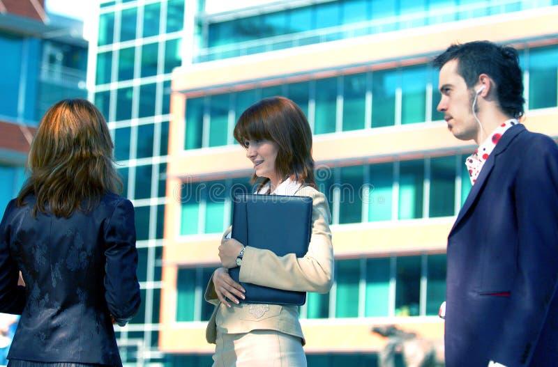 Matiz de fala do azul do negócio 2 fotos de stock