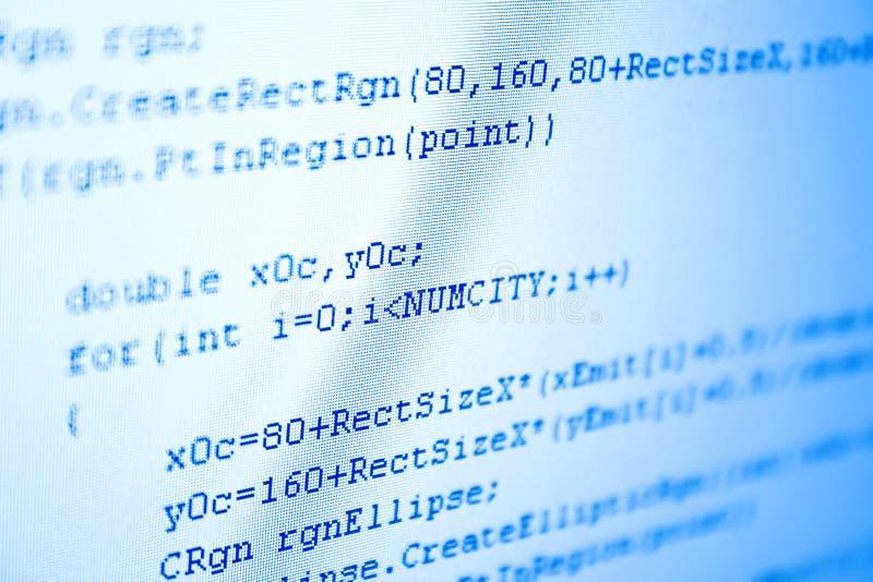 Matiz de programação do azul do código foto de stock royalty free