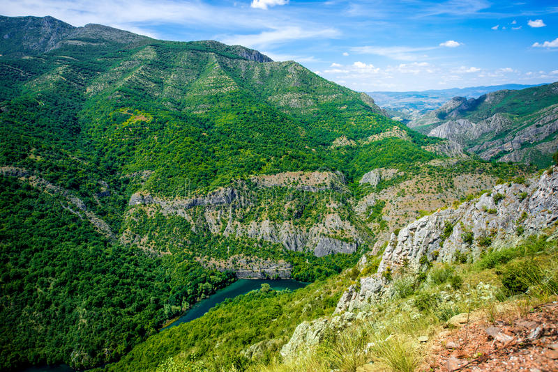 Matka峡谷在马其顿 库存照片