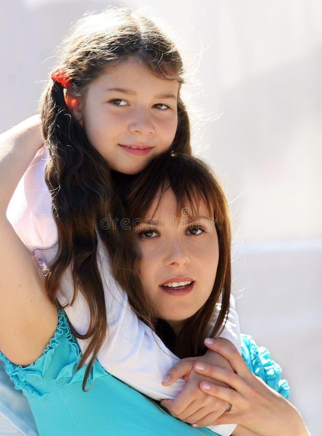 matka córkę obraz stock